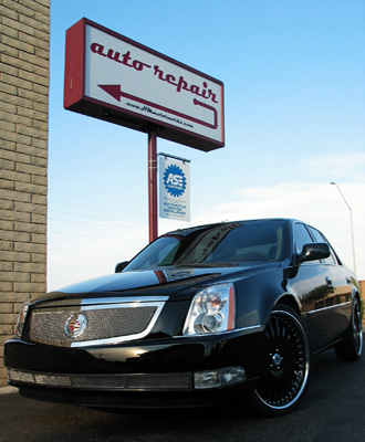 Black Cadillac CTS